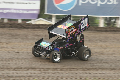 Jordan Adams Racing with the World of Outlaws in Grand Forks at River Cities Speedway, Home of Economy Dekalb